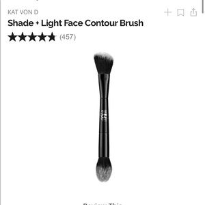KAT VON D SHADE AND LIGHT FACE BRUSH